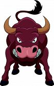 Angry bull cartoon