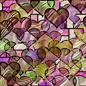 Tiffany Hearts Pattern