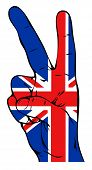 Peace sign with British flag