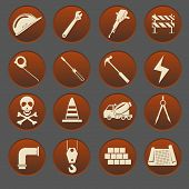 Construction Icon Set Gradient Style