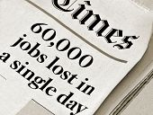 foto of billion  - Newspaper with headlines that say 60000 jobs lost in a single day - JPG