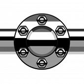 vector chrome termination flange pipe