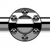 pipa del reborde de la terminación de la cromo de Vector