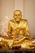Gold Buddhist Monk Statue