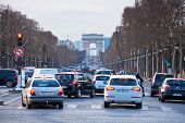Avenues Des Champs Elysees In Paris