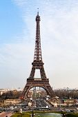 Champ de Mars, Pont d Iena and Eiffel Tower in Paris