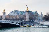 Постер, плакат: Мост Александра Iii и Гран Пале Париж