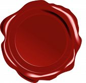 Red Vector Wax Seal