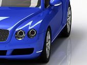Car Blue Luxury
