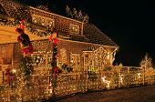 picture of x-max  - A house lit to the max at X - JPG
