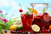 image of punch  - Refreshing sangria  - JPG