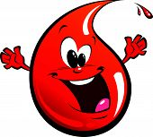 Red happy drop