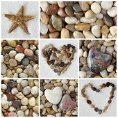 Collage of photos with stones