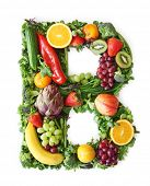 Fruit and vegetable alphabet - letter B