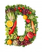 foto of letter d  - Fruit and vegetable alphabet  - JPG