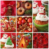 picture of ice-cake  - Collage christmas cakes - JPG