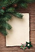 Letter for santa with old parchment