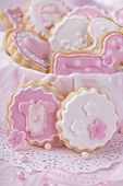 Baby girl cookies in a box