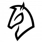 Illustration of Black Horse Icon isolated on a white background