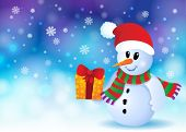 Christmas snowman theme image 3 - eps10 vector illustration.