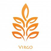 Illustration of Simplistic Lines Virgo Zodiac Star Sign isolated on a white background