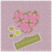 Postcard In Vintage Style For Valentine's Day