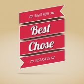 Best chose poster,  vector illustration