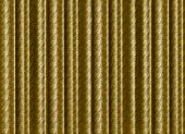 A Pleated, Gold, Silk Curtain Backdrop