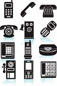 Phone Icons Black