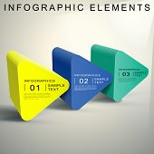 Abstract 3D Triangular Prism Infographics