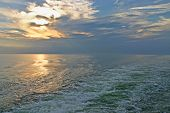 Sunset on the Wake