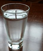 a glassof water