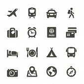 Traveling And Transport Icons For Web And Mobile App. Rounded Set 4