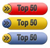 top 50 charts list pop poll result and award winners chart ranking music hits best top fifty quality