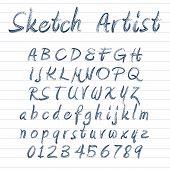 Sketched Alphabet