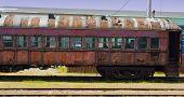 Old Abandoned Passenger Train Car