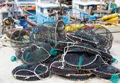 Empty traps for capture fisheries and seafood