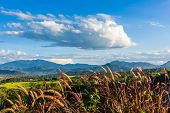beautiful mountains landscape in pai at thailand.