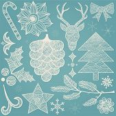 Christmas Hand Drawn Decorations Icons