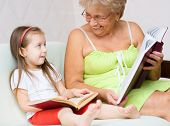 Great-grandmother Reading A Book