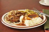 Salisbury Steak With Mashed Potatoes And Gravy