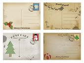 Christmas Of Old Postal Cards