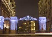 Moscow Decorated To Christmas And New Year