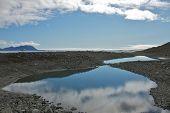 Reflection of the Sky in Hornsund, Svalbard