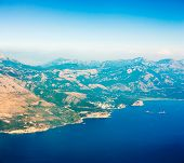 Aerial View of Adriatic Coastline in Montenegro.