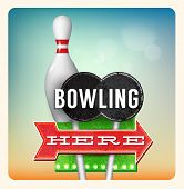 Retro Neon Sign Bowling