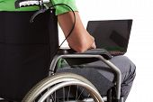 Paralyzed Teenager With Laptop