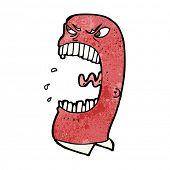 cartoon furious man shouting