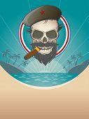 revolution skull background