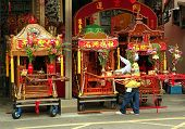 Three Religious Sedan Chairs